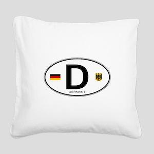 Germany D Deutchland Square Canvas Pillow