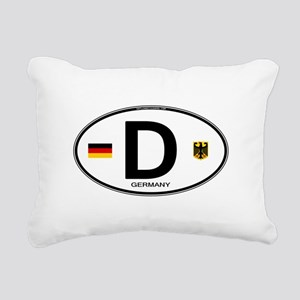 Germany D Deutchland Rectangular Canvas Pillow