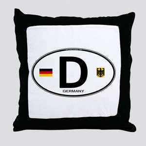 Germany D Deutchland Throw Pillow