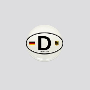 Germany D Deutchland Mini Button