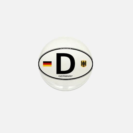 Germany D Deutchland Mini Button