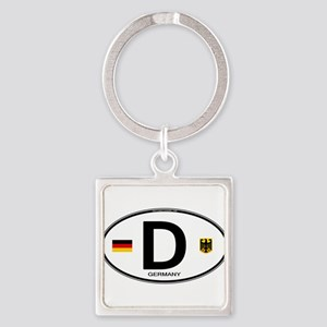 Germany Euro Oval Keychains