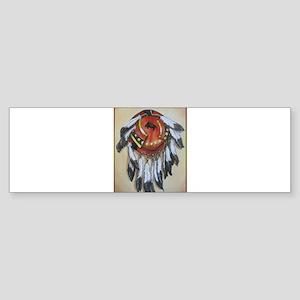 Native American Shield, Buffalo art Bumper Sticker