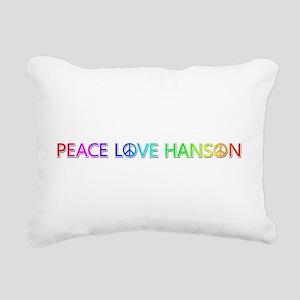 Peace Love Hanson Rectangular Canvas Pillow