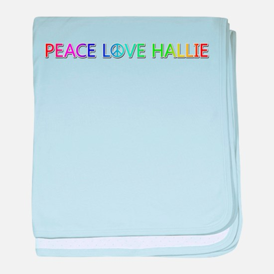 Peace Love Hallie baby blanket