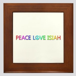 Peace Love Isiah Framed Tile
