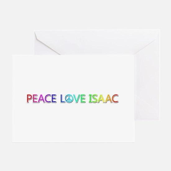 Peace Love Isaac Greeting Card