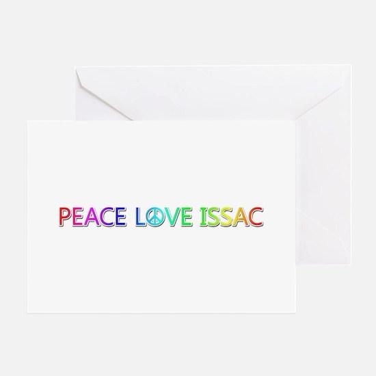 Peace Love Issac Greeting Card