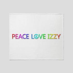 Peace Love Izzy Throw Blanket