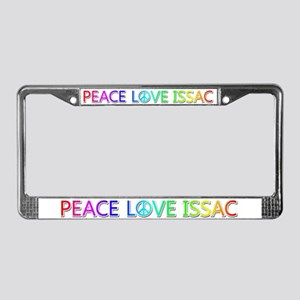 Peace Love Issac License Plate Frame