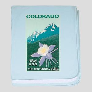 Colorado baby blanket