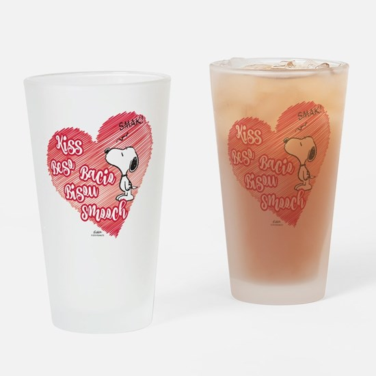 Snoopy - Kisses Drinking Glass