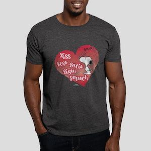Snoopy - Kisses Dark T-Shirt