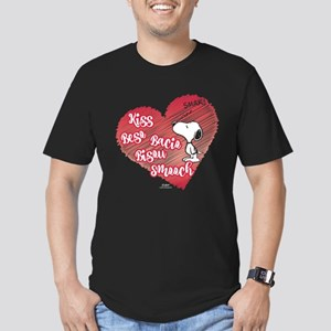 Snoopy - Kisses Men's Fitted T-Shirt (dark)