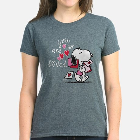 peanuts snoopy you are so loved womens classic t shirt - Valentine Day Shirts