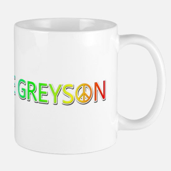 Peace Love Greyson Mugs
