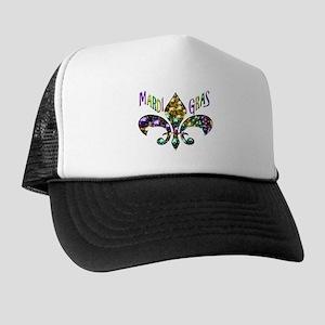 Mardi Gras Fleur Trucker Hat