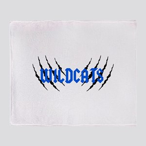 Wildcats Claw Marks Throw Blanket