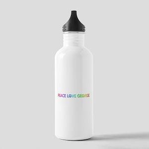 Peace Love George Water Bottle