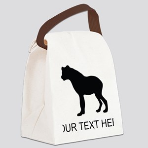 Hyena Silhouette (Custom) Canvas Lunch Bag