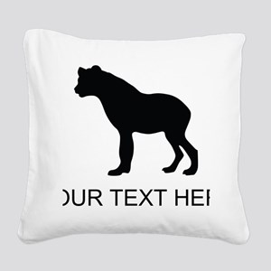 Hyena Silhouette (Custom) Square Canvas Pillow