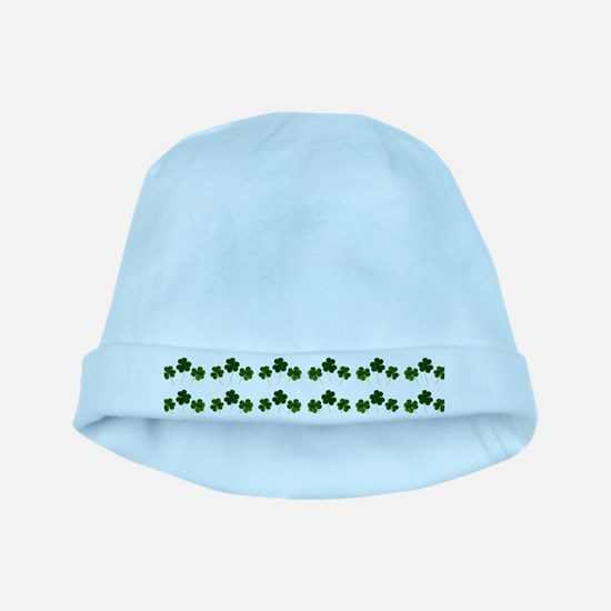 st patricks day shamrocks baby hat