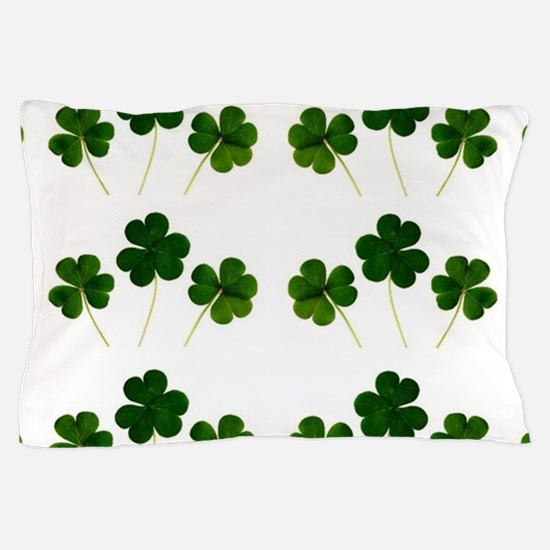 st patricks day shamrocks Pillow Case
