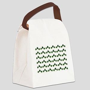st patricks day shamrocks Canvas Lunch Bag
