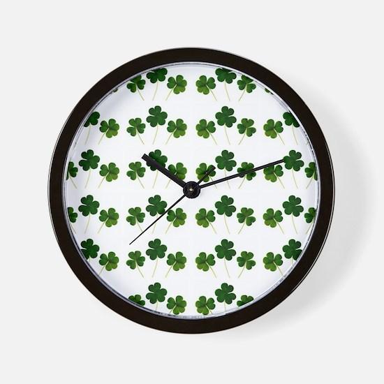 st patricks day shamrocks Wall Clock