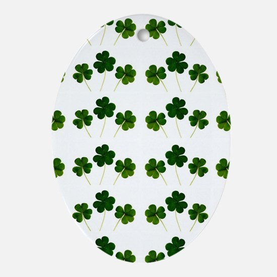 st patricks day shamrocks Oval Ornament