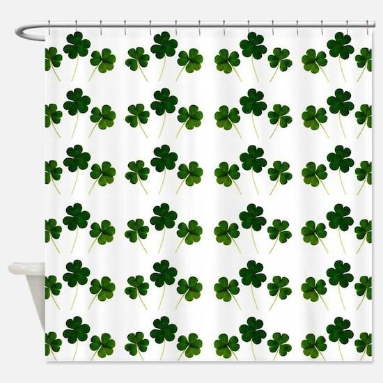 st patricks day shamrocks Shower Curtain