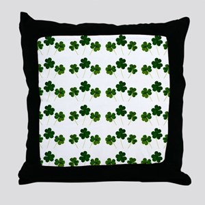 st patricks day shamrocks Throw Pillow