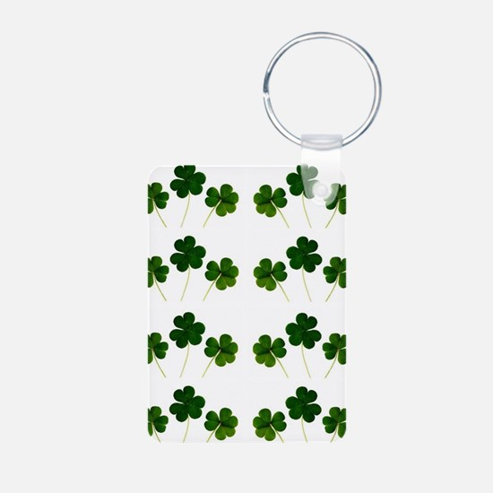 st patricks day shamrocks Keychains
