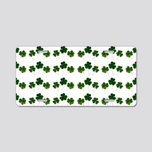 st patricks day shamrocks Aluminum License Plate