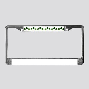 st patricks day shamrocks License Plate Frame