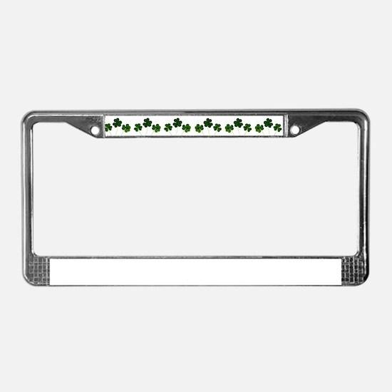 st patricks day shamrocks License Plate Frame