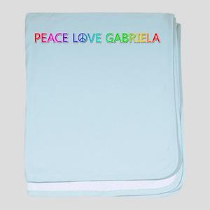 Peace Love Gabriela baby blanket