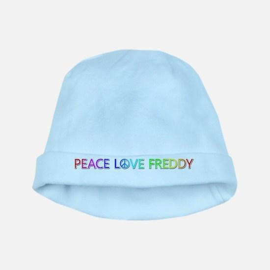 Peace Love Freddy baby hat