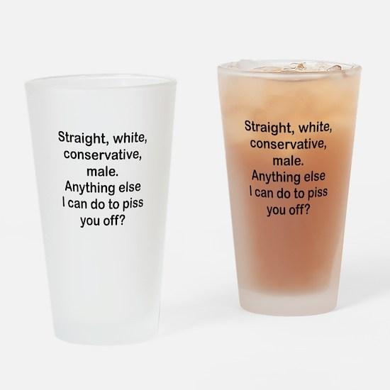 Straight, White...(bl) Drinking Glass