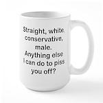 Straight, White...(BL) Mugs