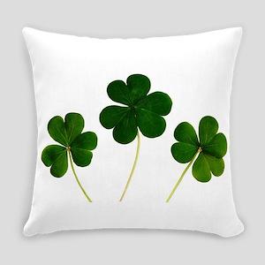 st patricks day shamrocks clover Everyday Pillow