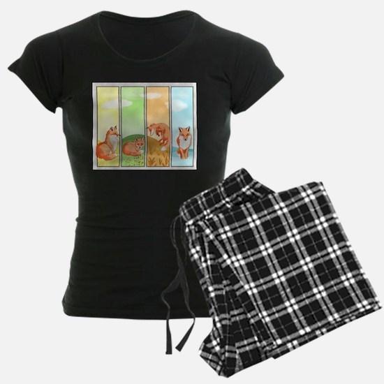 Season Of The Foxes Women's Dark Pajamas