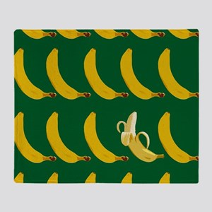 bunch of bananas Throw Blanket