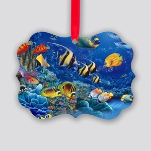 Tropical Fish Picture Ornament