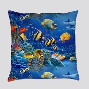 Tropical Fish Everyday Pillow