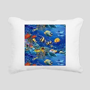 Tropical Fish Rectangular Canvas Pillow