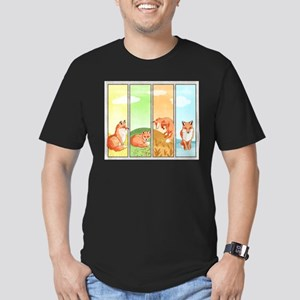 Season Of The Foxes Men's Fitted T-Shirt
