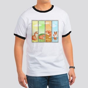 Season Of The Foxes Ringer T T-Shirt