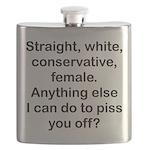 Straight, White...(FBL) Flask