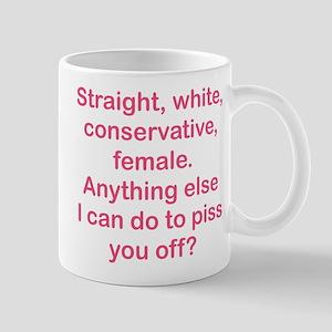 Straight White Piss Off (FP) Mugs